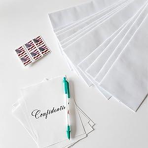 #10 security envelopes