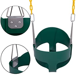 """Orgrimmar Toddler Swing Seat High Back Full Bucket With Heavy Duty 66"""" Chain"""