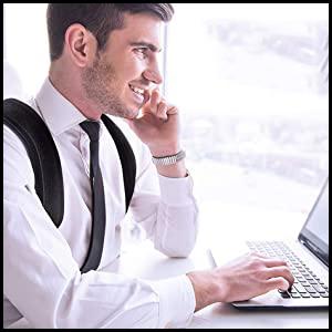 shoulder brace back braces for posture correction neck brace, back corrector for men posture pro fix