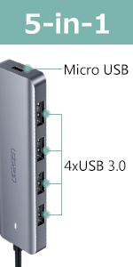 usb c hub 4 ports