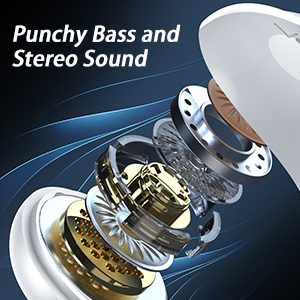 Punchy Bass and Stereo Sound