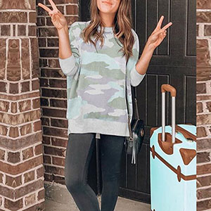 camo women fashion sweatshirts