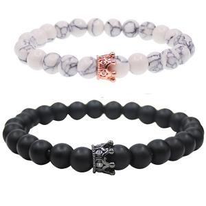 Distance Couple Crown Bracelets