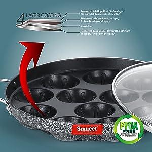 Sumeet Silver Series Nonstick Dosa Tawa, Concave Tawa, Fry pan, Kadhai, Appam Patra, Tapper , Tadka