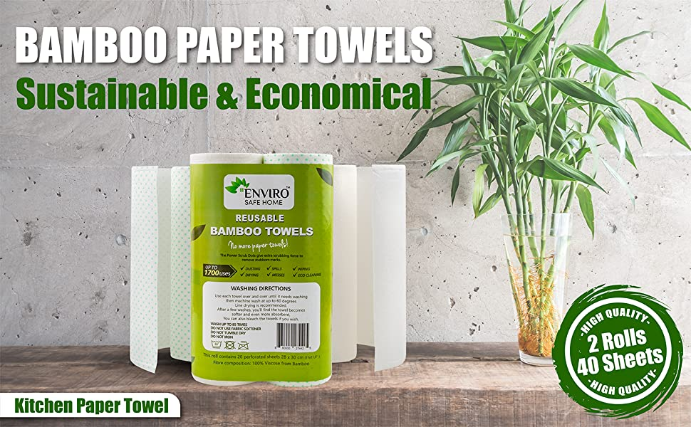 reusable bamboo paper twels heavy duty paper towels recycled papel toalla cocina paperless towels