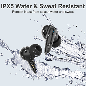 IPX5 Water and Sweat Resistant