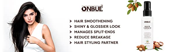 Onbue Hair Serum With Argon Oil For Non-Greasy Glossier Hair