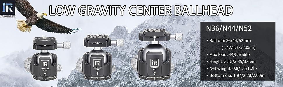 Low Profile Tripod Ball Head INNOREL Panoramic CNC Metal Camera Tripod Ball Head