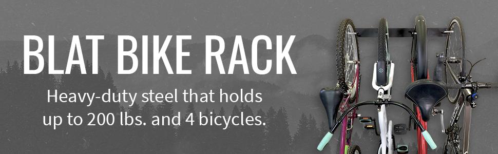 storeyourboard blat bike wall rack hanger steel metal hooks garage indoor storage vertical wheel #1