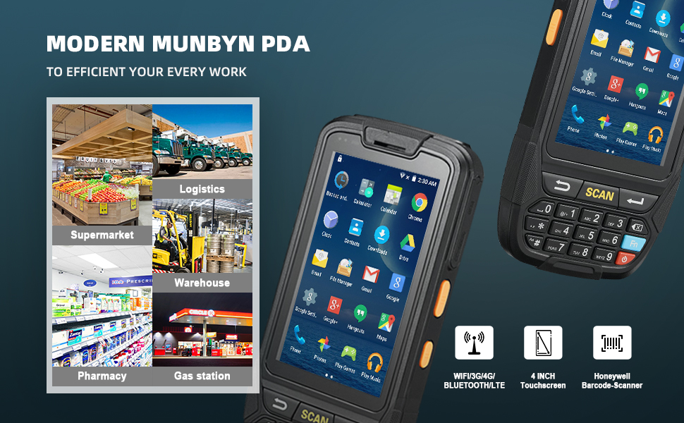 munbyn handheld barcode scanner mobile terminal android barcode scanner