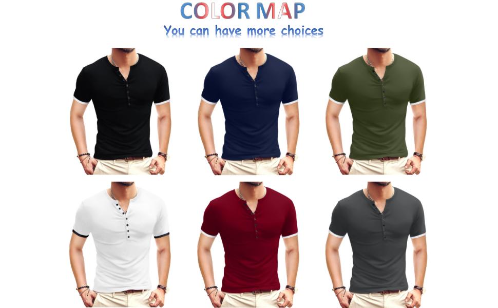 YTD henley shirts for men