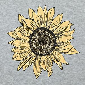 sunflower print t shirt