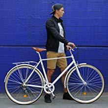 Fabric City Classic-Bicicleta de Paseo (M-53cm, Classic Matte Grey ...