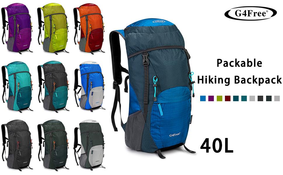 G4Free 50L Outdoor Camping Klettern Wandern Rucksack mit Regen Abdeckung