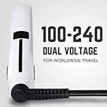 dual voltage flat iron