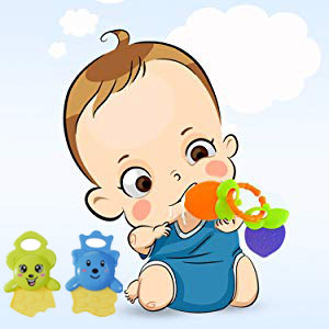 silicone teethers 6 to 12 months