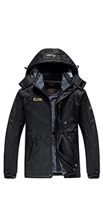 Men's Winter Cotton Fleece Lined Jacket Coat Ski Outerwear