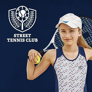 logo and girl tennis player