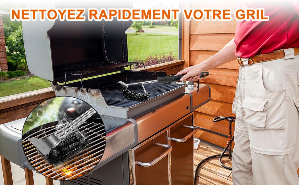 Kupton Brosses à Barbecue pour Grilles avec Racleur, Brosse