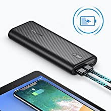 Portable Charger Power Delivery 30W 26800mAh External Battery Fast Charging Power Bank for lightning