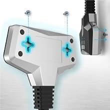 Commutateur HDMI  4k@60Hz HDMI Switch HDCP UHD HDR 3D 1080p Répartiteur Sélecteur HDTV Xbox Fire TV