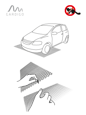 Gardigo Mardermatte Mobil I Flexibles Mardergitter Elektronik