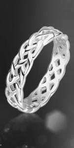 Anello eternity celtico in argento