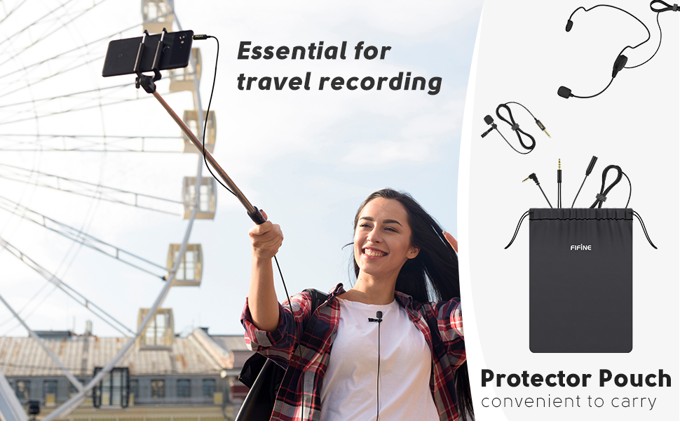 portable lavalier microphone kit