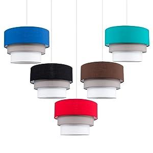 Moderne driedelige veelkleurige lampenkap
