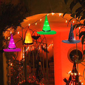 lighted witch hats