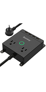 black power outlet with adapters