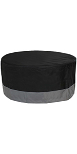 round outdoor fire pit cover