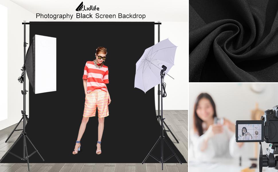 Photography Black Screen Backdrop