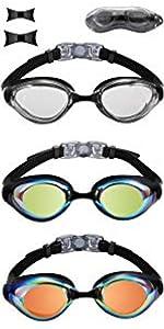 Flat Lens Swimming Goggles