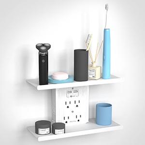 Extra Spacious Socket Outlet Shelf