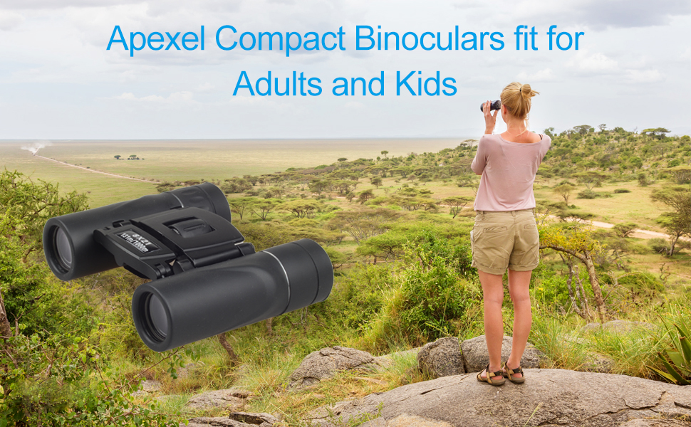 Apexel compact binoculars fit for adults and kids