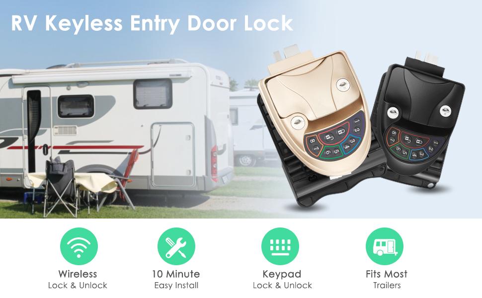 RV Keyless Entry Door Lock