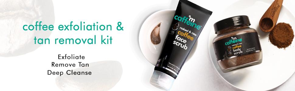 coffee exfoliation tan removal combo exfoliate deep cleanse remove tan