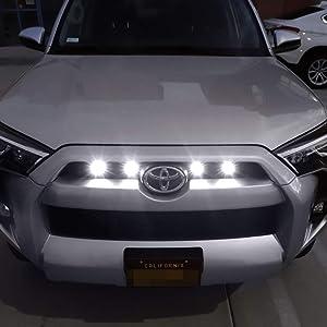 iJDMTOY 4pc Raptor Style 3W High Power LED Grille Lighting Kit For Toyota FJ Cruiser 4Runner Tacoma