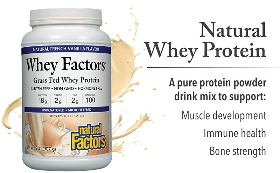 A pure protein powder drink mix to support: Muscle development Immune health Bone strength