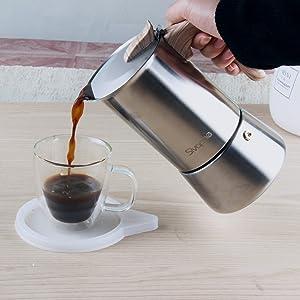 MOKA COFFEE MAKER ON STOVE