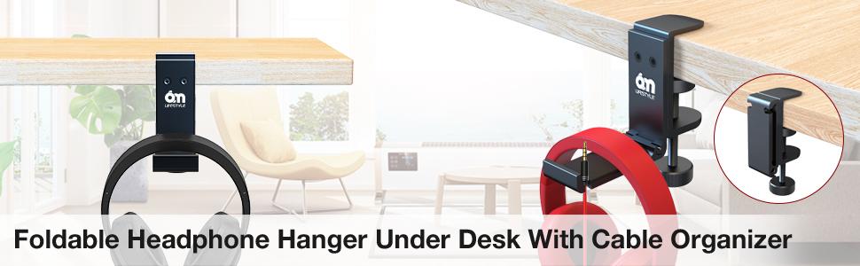 headphone hook under desk
