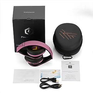 bluetooth headphones with case foldable design premium carry case over ear wireless headphones case