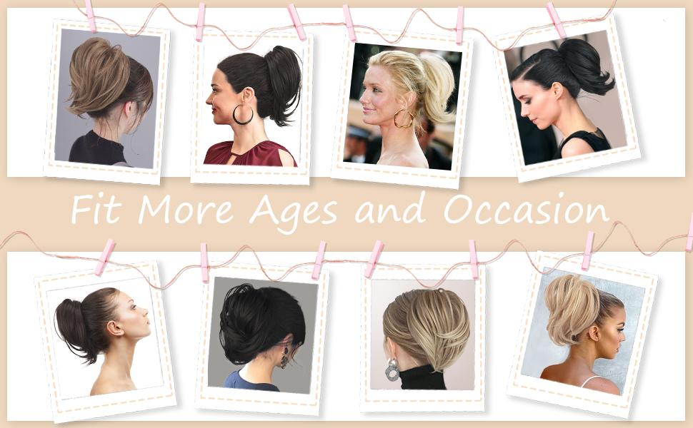 Ideal bun ponytail Extension