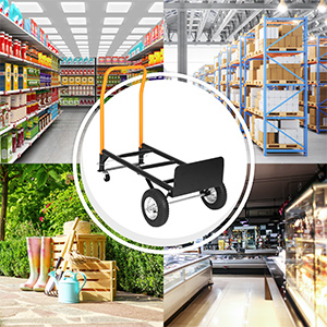 luggage cart lightweight warehouse Dual Purpose quick change moving office garden  storage room