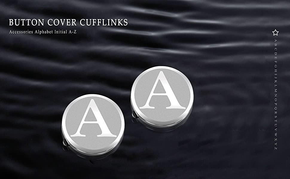 Button Covers for Men - Silver Mens Button Cover Cufflinks for Wedding and Formal