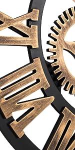 Roman Bronze Wall Clock