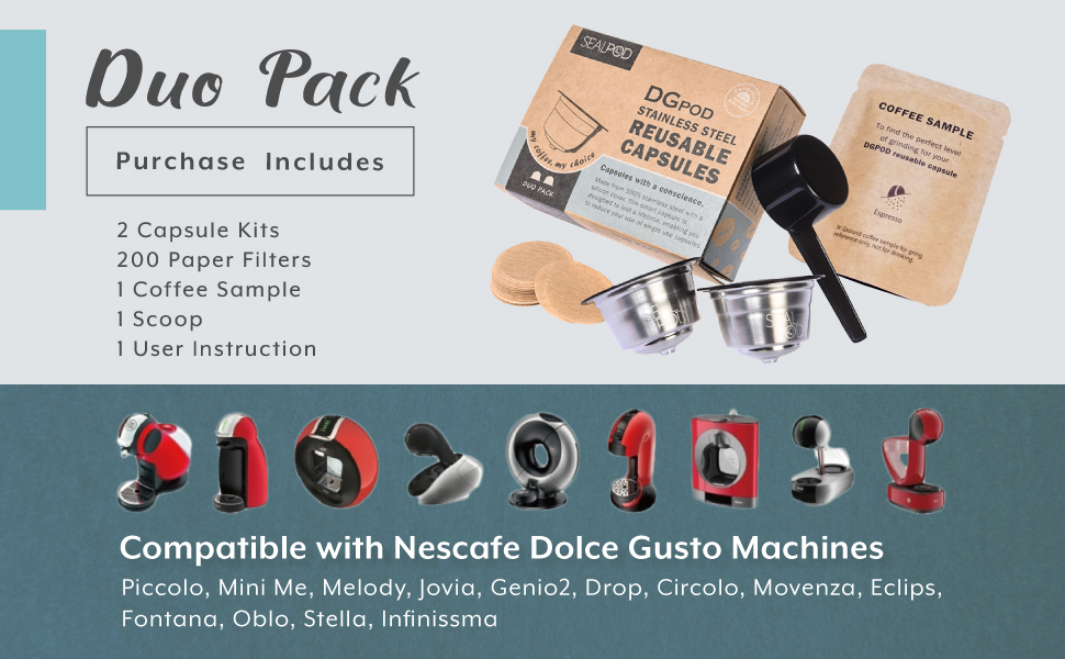 Nespresso Dolce Gusto Refillable coffee pods