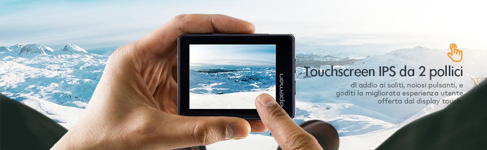 touch screen action cam gopro apeman A100 videocamera subacquea