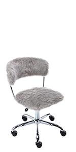 grey fuzzy task chair